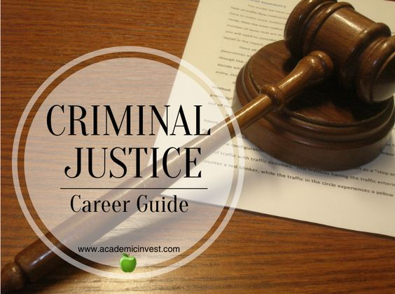 What you can do with a criminal justice degree